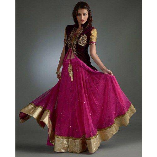 Craftsvilla Com Pashmina Suits: Bridesmaid Anarkali Gherdaar Lehenga