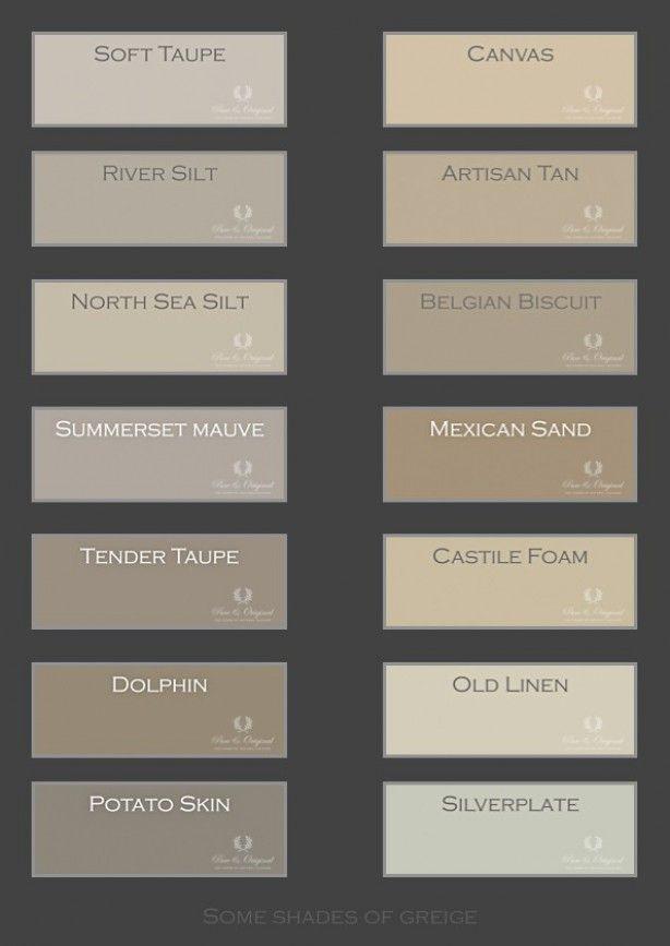 46 best images about kleureninspiratie woonkamer keuken on pinterest grey paint palettes and - Kleur grijze taupe ...