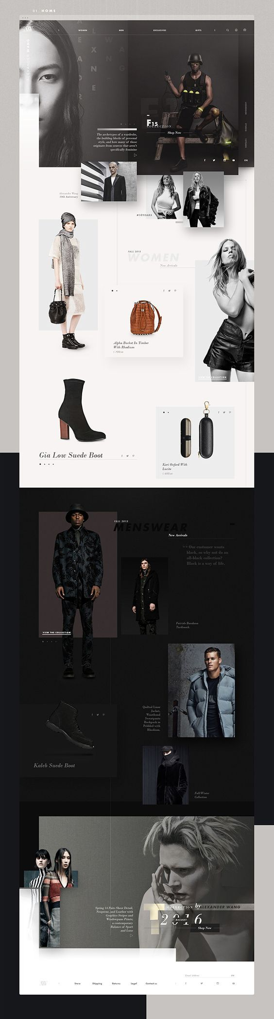 Alexander Wang Fashion Web Design by Josue Solano | Fivestar Branding Agency – Design and Branding Agency & Curated Inspiration Gallery