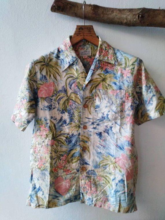 cbf655a22ee1 Vintage Hawaiian Shirt , Hawaii Shirt , Edwin Shirt   Hawaiian ...