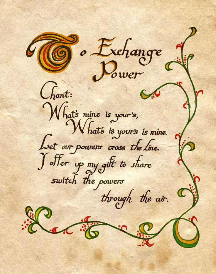 """Book of Shadows:  """"To Exchange Power,"""" by Charmed-BOS, at deviantART."""