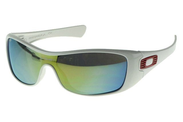 Wholesale Cheap Oakley Antix Sunglasses White Frame Colored Lens#Oakley Sunglasses