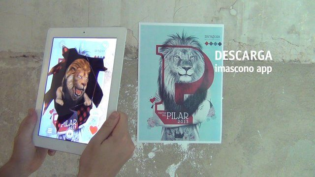 2013 Pilar Festival #augmentedreality poster - HOW TO USE (spanish)