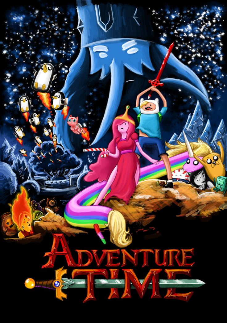 Adventure Time Cartoon TV Series 24''x34'' Poster 09 ArtPrint Cloth