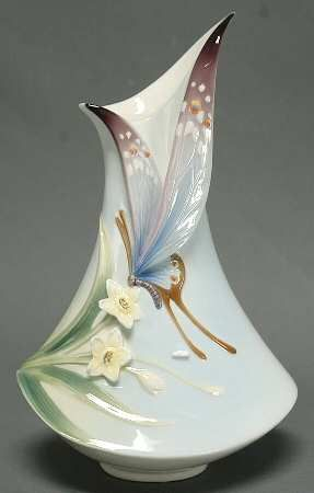 Franz Collection Papillon Butterfly Collection Vase   Small