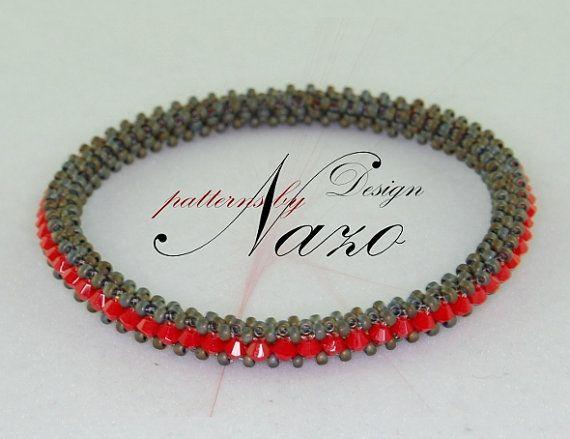 Bead Pattern - Vert... - Beaded Bracelet Tutorial - Nazo Weaving Technique - An Alternative Technique to Beaded Creations $5.50