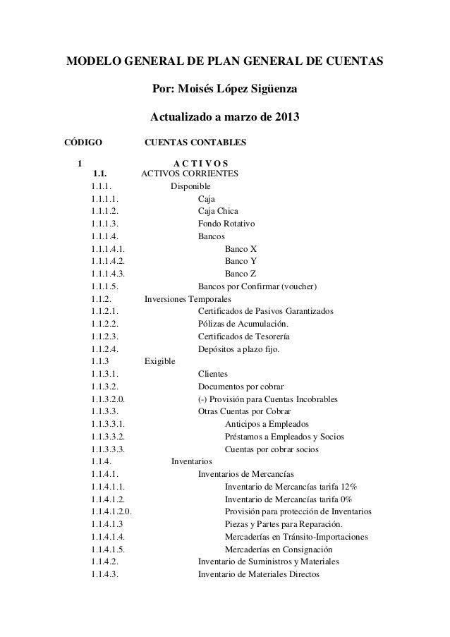 Plan de cuentas 2013 by adrian2089 via slideshare