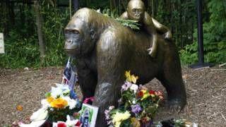 Image copyright                  Getty                  Image caption                     La gente dejó flores, fotos y mensajes para recordar a Harambe, el gorila de 17 años que debió ser sacrificado.    La madre del niño de 3 años que cayó en el recinto de los gorilas en el zoológico de Cincinnati en EE.UU. y al cual debieron matar, no enfrentará cargos penales, dijeron este lunes los fiscales del caso. El pequeño se trepó a una cerca y cayó de