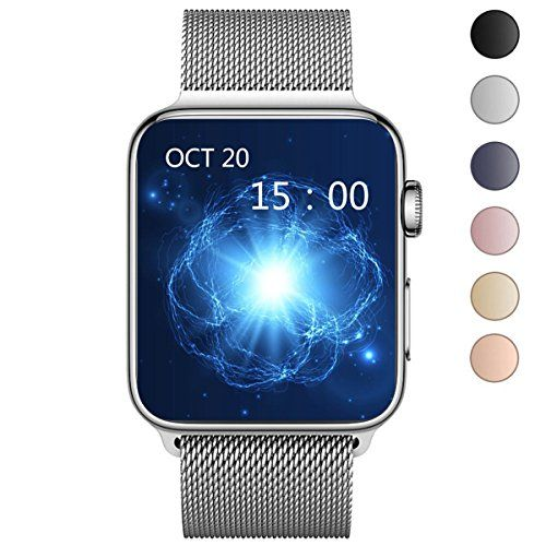 OROBAY Apple Watch Band 38mm, Stainless Steel Mesh Loop with Adjustable Magnetic Closure Replacement iWatch Band for Apple Watch Series 3 Series 2 Series 1,Silver - About us: OROBAY trademark is protected by US trademark law(Serial Number: 86785634). Only buy from Fresh Color to get genuine OROBAY products with super customer service.Please recognize the seller name OROBAY when you purchase, beware of imitation, fake and poor products from other seller. Prod...