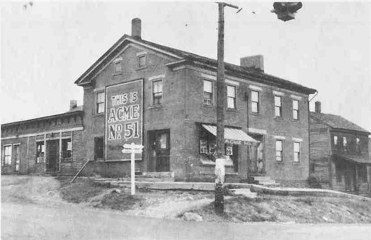 """ACME Stores - Fred W. Albrecht opened his original grocery store in 1881 at the corner of Buchtel Avenue and Center Street. Adopting a policy of """"cash and carry"""", he built his grocery business into a chain of stores throughout the city and county. By 1938 Albrecht operated 111 stores. Store No. 51 was located in Clinton and No. 20 at the corner of Adams & Upson Streets in East Akron.  Photographs. Cuyahoga Falls Library Archives, Cuyahoga Falls, Ohio."""