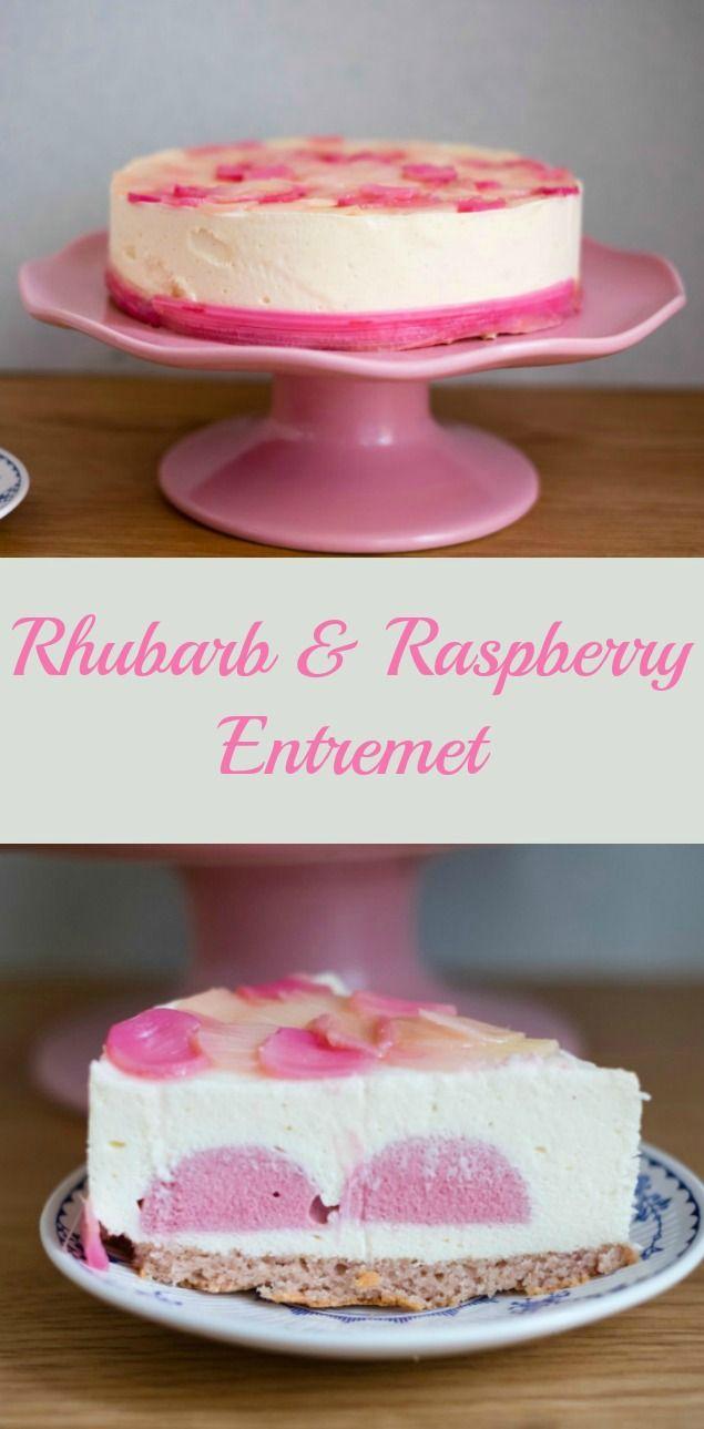 Rhubarb & Raspberry Entremet