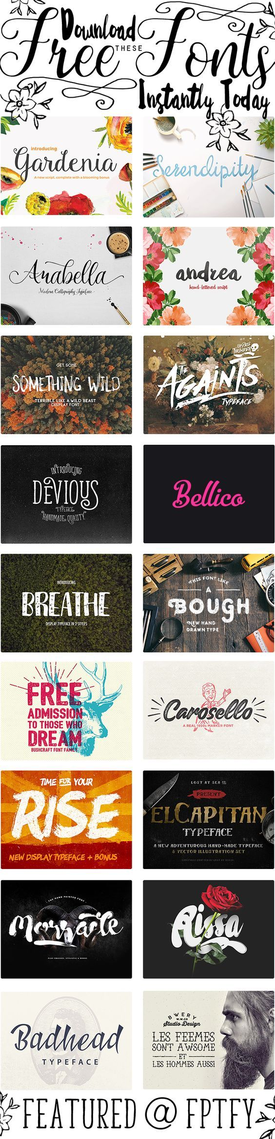 Gorgeous Free Fonts Over At Pixel Buddha - Free Pretty Things For You