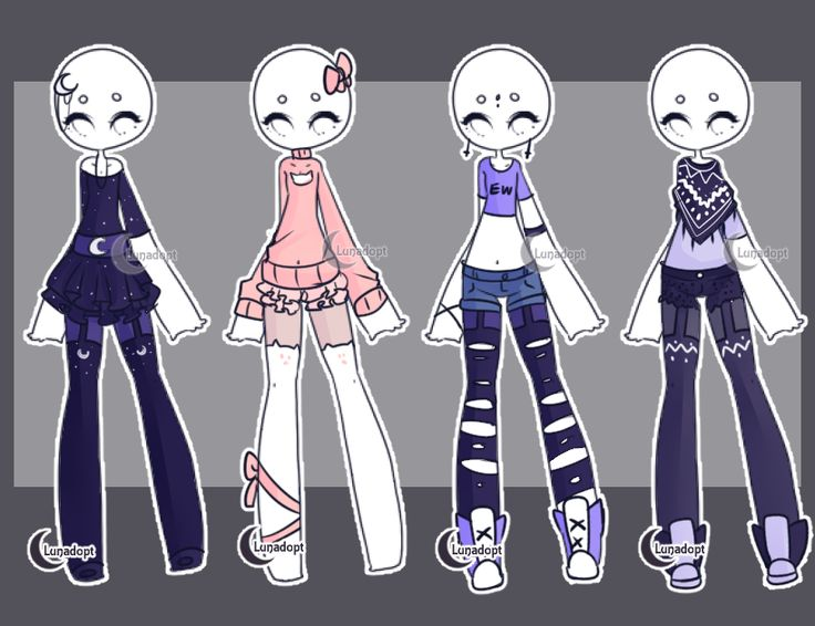 SET 6 Gacha Outfits By Lunadopt On DeviantArt Fashion2