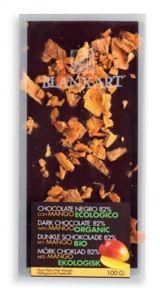 Blanxart 100g. Ciocolata organica neagra cu mango. BIO