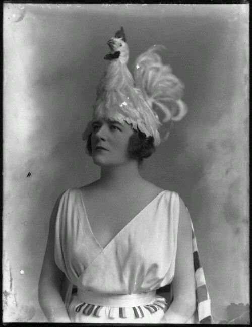 Everyone needs a chicken hat Alice Delysia, 1918 National Portrait Gallery, London