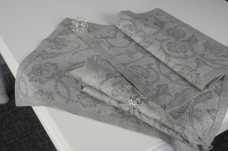 grey placemats and napkins sets | Linen Grey Placemats Set Of Four - The Happy Linens Co.