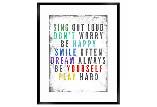 I like, and I agree!  One Kings Lane - Style Steals - Sing Out Loud Framed Print