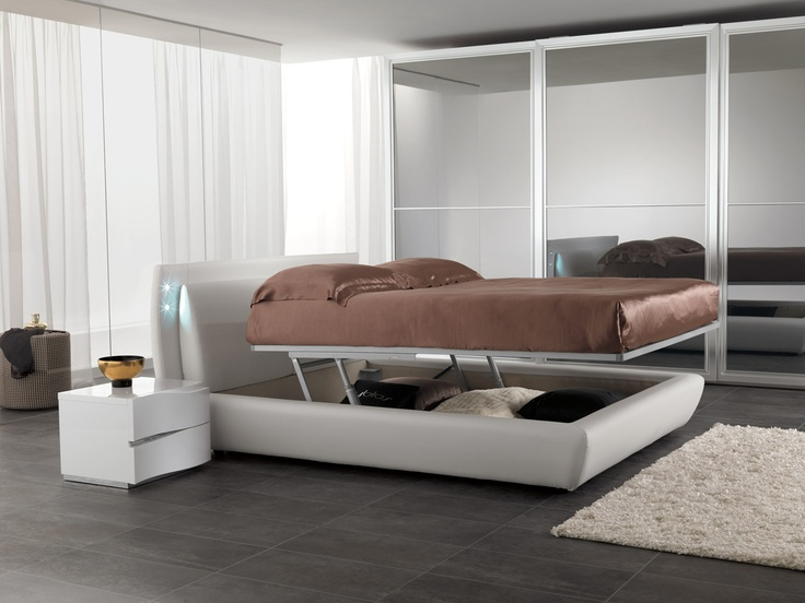 Italian bed with gas lifting mechanism | superb design |