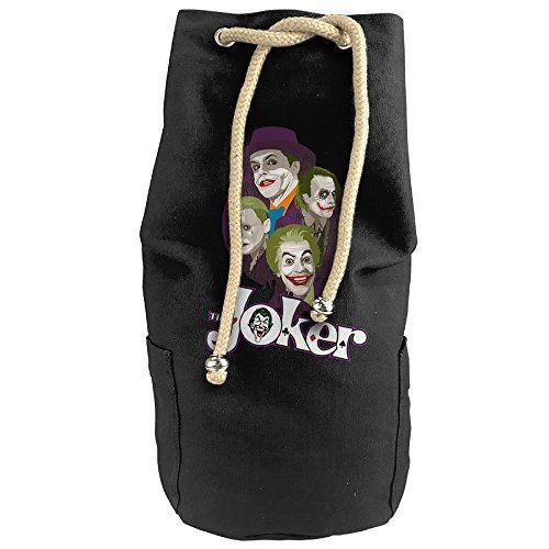DAFA Unisex Vertical Bucket Cylindrical Shaped Canvas Drawstring Sports Basketball Shoulders Backpack BagsSuicide Squad The Funny Joker * For more information, visit image link.