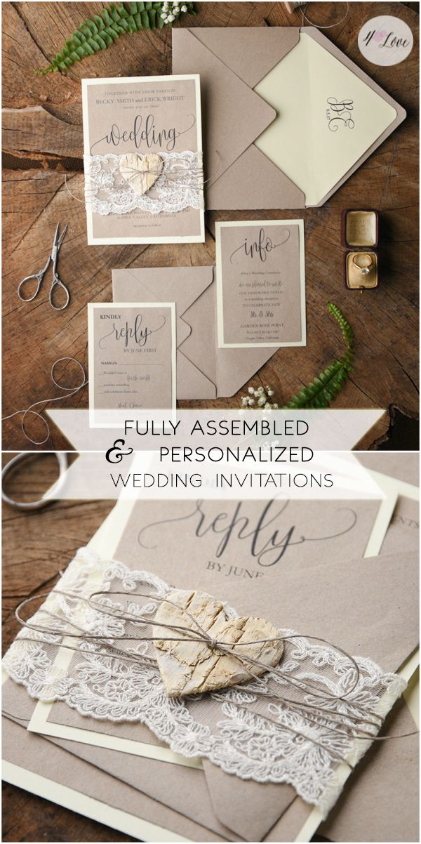 wedding invitations printed on wood%0A Looking for wedding invitations matching your wedding theme and colors   Check our completely customized invitations