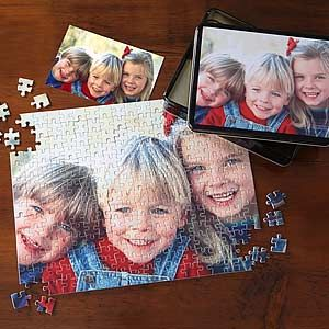 Personalized Photo Jigsaw Puzzle with Keepsake Tin - Horizontal #DIY #Puzzle #Gift