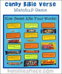 Halloween Candy Bible Verse Matchup Game