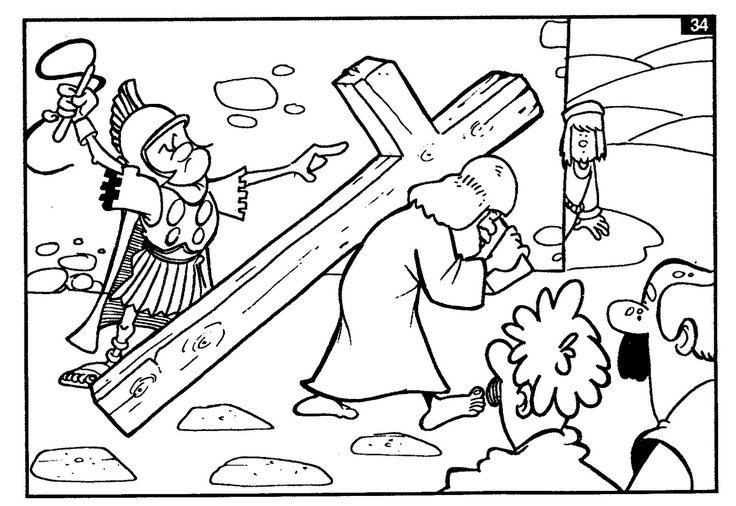 Holy Friday printable coloring pages