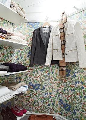 Stadshem - Josef Frank wallpaper in closet