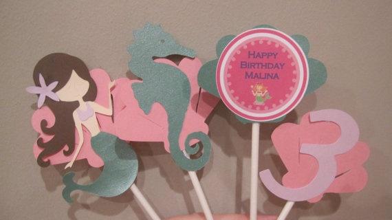 Entire Mermaid Theme Birthday Party by KhoshtinatDesigns on Etsy, $70.00