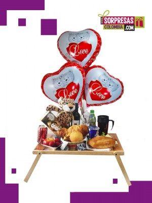 Desayuno  Especial  Vip Sorprende con este especial DESAYUNO SORPRESA que enamorara una vez mas a esa persona especial. Visita nuestra tienda online www.sorpresascolombia,com o comunicate con nosotros 3003204727 - 3004198