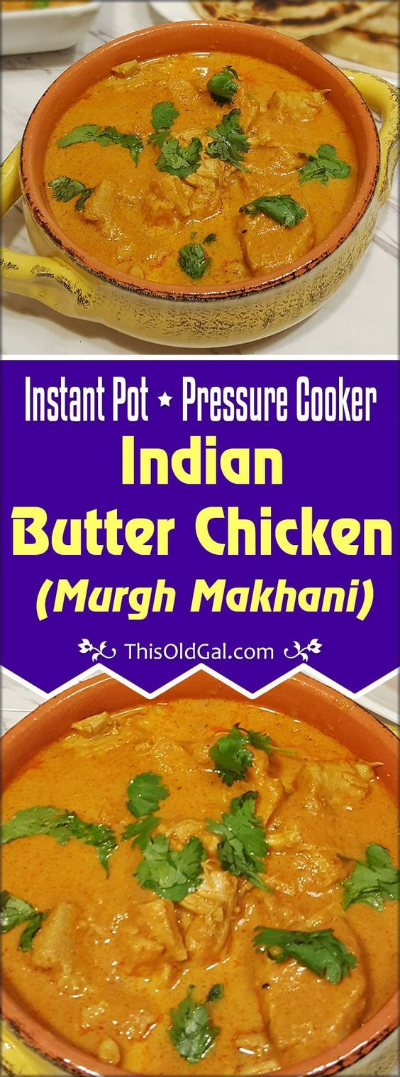 Pressure Cooker Indian Butter Chicken {Murgh Makhani} with Naan Image