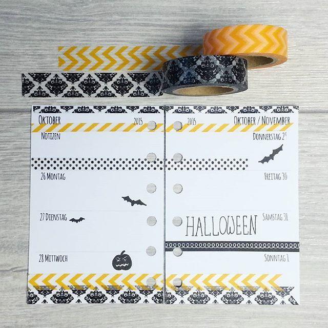 ** lichtkonfetti - Filofax decoration Halloween