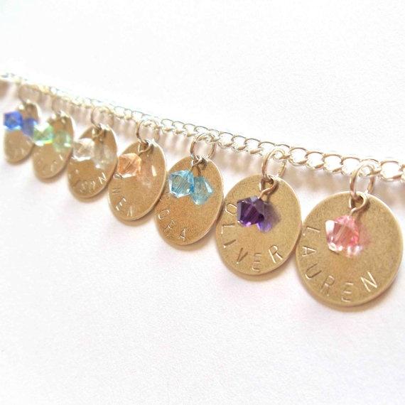 Bracelet for my mother in law to represent her 12 grandchildren