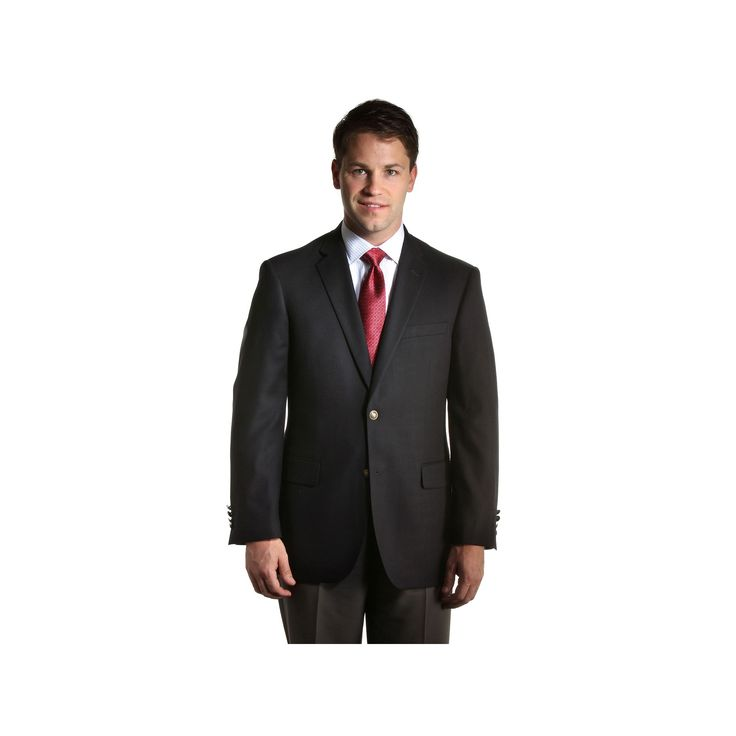 Big & Tall Jean-Paul Germain Hopsack Blazer, Men's, Size: 50 Prt Lng, Black