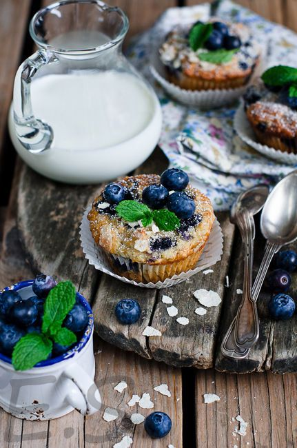 dessertDesserts, Tarts, Blueberries Cupcakes, Sweets Food, Food Style, Healthy Breakfast, Blueberries Muffins, Food Photography, Food Recipe