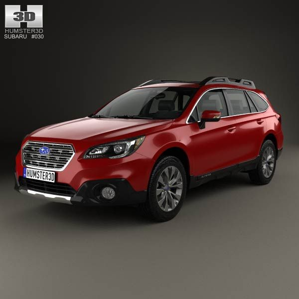 Subaru Outback 2015 3d model from humster3d.com. Price: $75