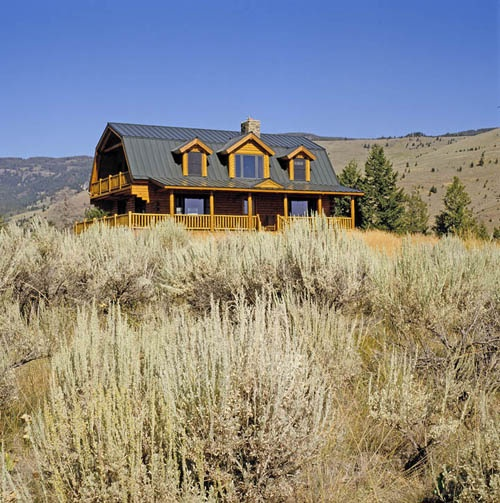 Log Home Montana Gambrel Roof 10 More Years And I M There