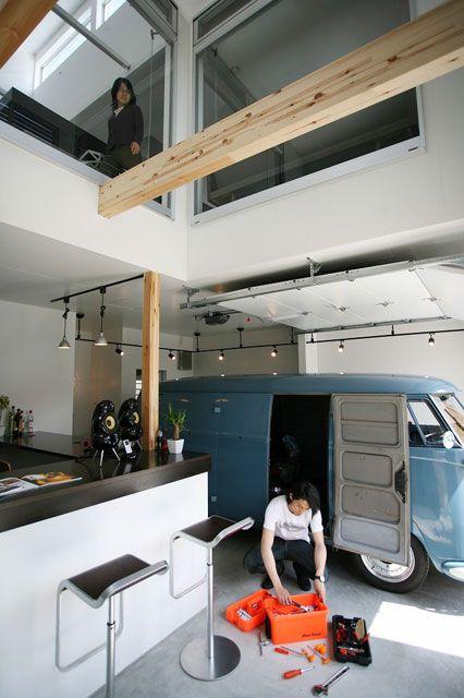 スターディ・スタイル - 施工事例「ガレージに住む」 注文住宅のハウスネットギャラリー