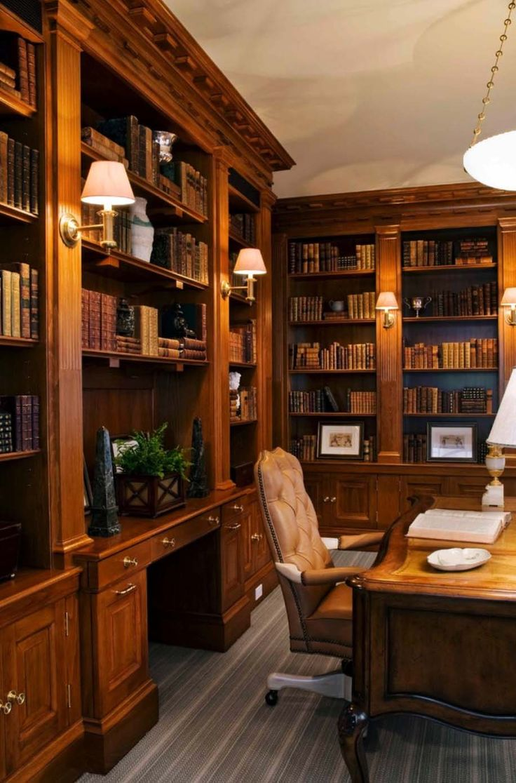 28 Dreamy Home Offices With Libraries For Creative Inspiration Part 75