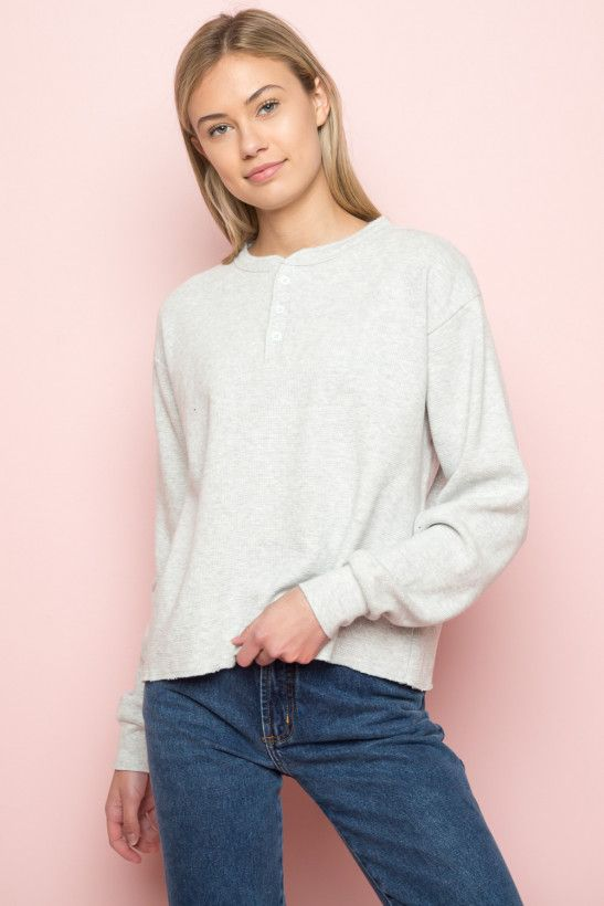 8b92f96e46e1 Allie Thermal Top | Brandy Melville in 2019 | Tops, Thermal top ...