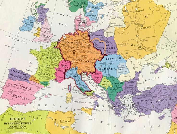 Map of Europe around the year 1000  MAPS  Pinterest