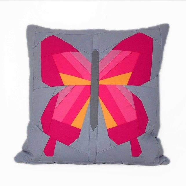 Butterfly Cushion by Flamingo Tree. Hand crafted quilted luxury cushion