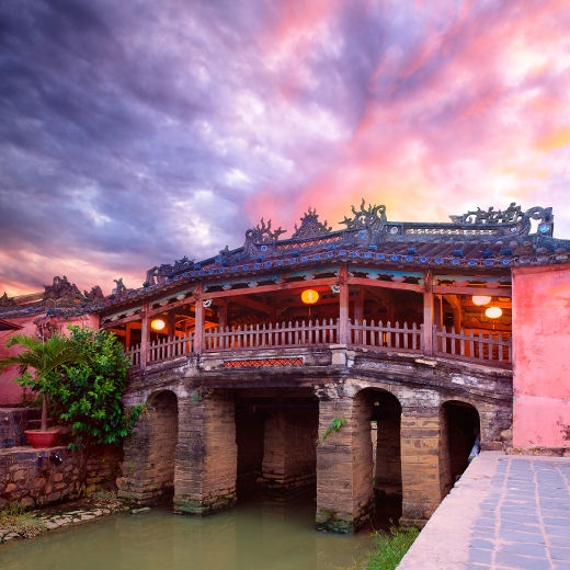 Built in the early 1600's in Hoi An, a city in Vietnam, which UNESCO has declared a world heritage site. This is the only bridge in the world to be attached to a Buddhist Pagoda ~ Photo by...Fotolia©