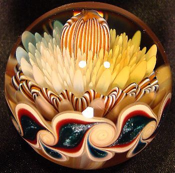 If you're into glass art you should check out orbs like the one shown here. Visually stunning.: