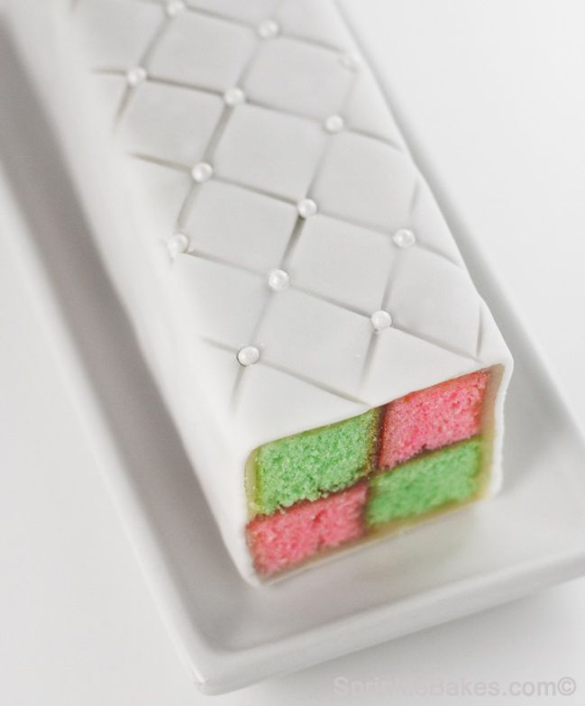 battenburg cake - i sooooo want to do this in red and green for christmas!!