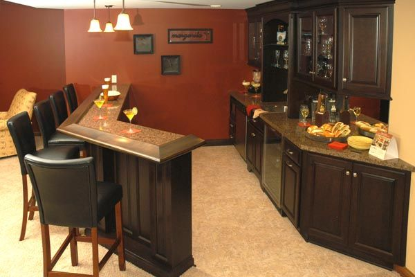 Home Bar for Basement | Cavalcade of Homes Show Model Home by Toebben