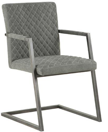 Eetkamerstoel Wouter Eetkamerstoel Wouter is stoere industriele stoel, die perfect past in het woonprogramma Wouter. De stoel heeft een metalen frame, afgestemd op de kleur van de stof. Verkrijgbaar in 3 kleuren stof.