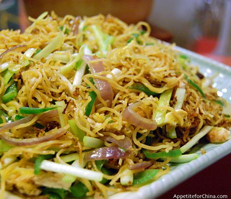 Stir-Fried Vermicelli with Garlic and Scallions.  My family loves this dish.  It's one of my go to side dishes to make.