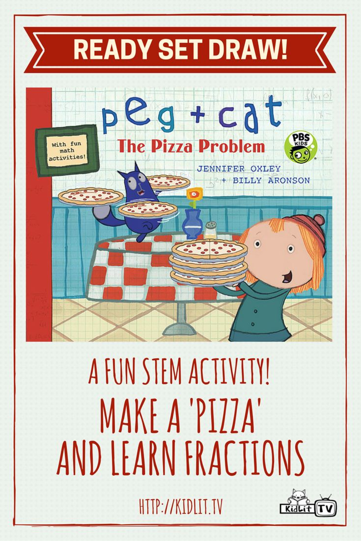 Watch Ready Set Draw from KidLit Tv featured author Jennifer Oxley sharing a STEM Activity from Peg + Cat Pizza Problem