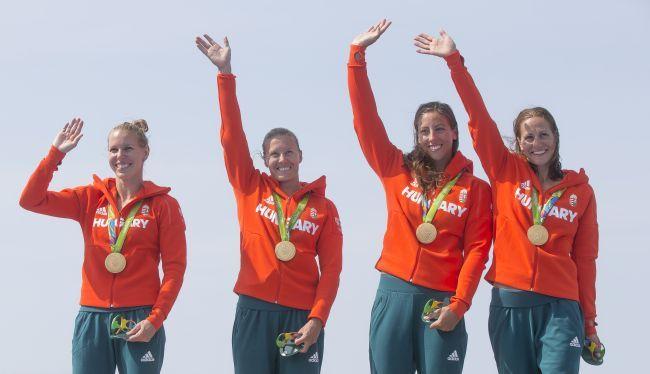 Megvédte olimpiai bajnoki címét a magyar női 500 méteres kajaknégyes, Kozák…
